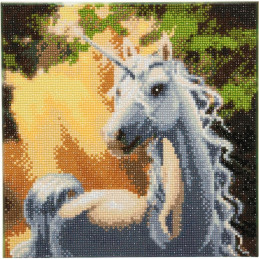 Broderie Diamant Crystal Art Kit tableau 30x30cm Licorne