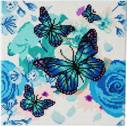 Broderie Diamant Crystal Art Kit tableau 30x30cm Papillons