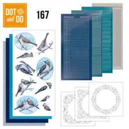 Dot and do 167 - kit Carte 3D  - Oiseaux d'hiver