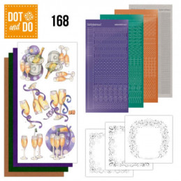 Dot and do 168 - kit Carte 3D  - Champagne