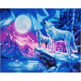 Broderie diamant Crystal Art Kit tableau 40x50cm Loups