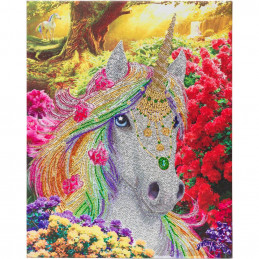 Broderie diamant Crystal Art Kit tableau 40x50cm Licorne