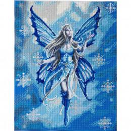 Broderie diamant Crystal Art Kit tableau 40x50cm Fée des neiges