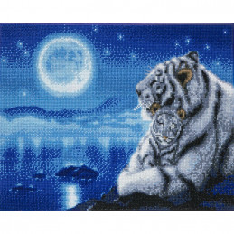 Broderie diamant Crystal Art Kit tableau 40x50cm Tigres