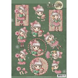 Carte 3D à découper - CD11381 - Lily Luna - Joie de Noël