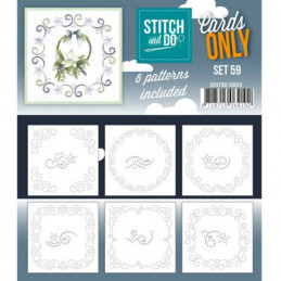 Cartes seules Stitch and do  - Set n°59