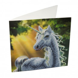Crystal Art Kit Carte broderie diamant 18x18cm Licorne