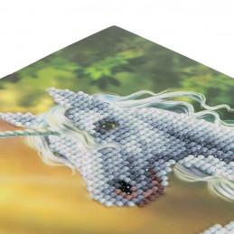 Crystal Art Kit Carte broderie diamant 18x18cm Licorne