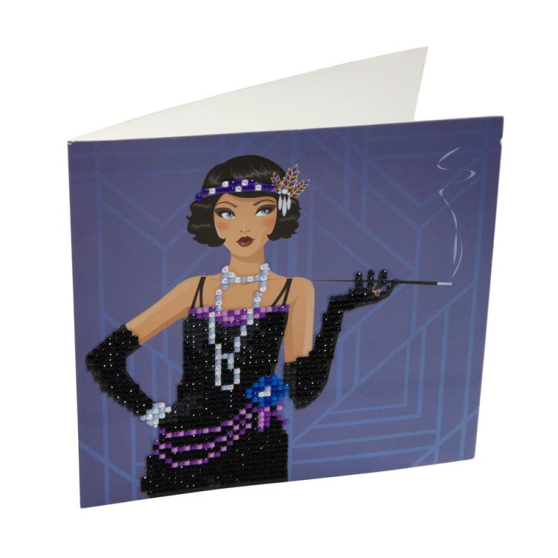 Crystal Art Kit Carte broderie diamant 18x18cm Lady