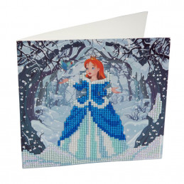 Crystal Art Kit Carte broderie diamant 18x18cm Princesse