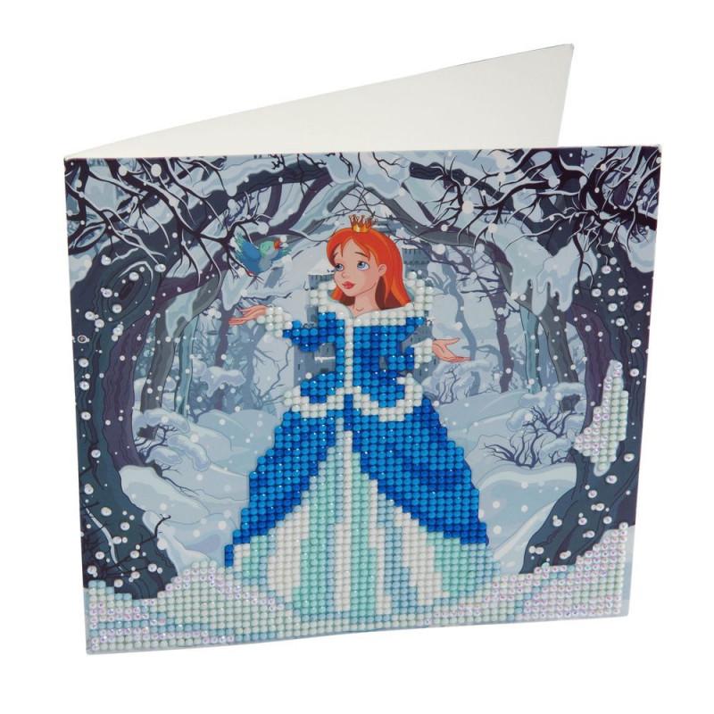 Crystal Art Kit Carte broderie diamant 18x18cm Princesse