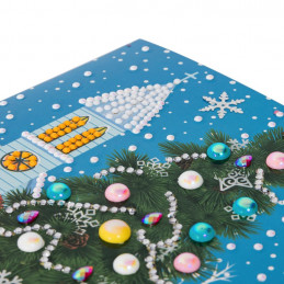 Crystal Art Kit Carte broderie diamant 18x18cm Sapin de Noël