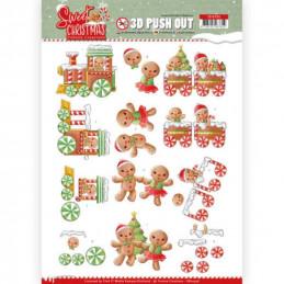 Carte 3D prédéc. - SB10396 - Sweet Christmas - Cookies de Noël