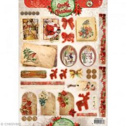 Carte 3D prédéc. - A4 n°445 - Etiquettes Noël