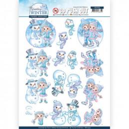 Carte 3D prédéc. - SB10405 - Sparkling winter - Joie de l'hiver
