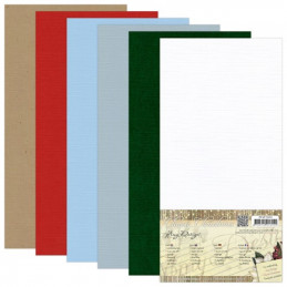 Set 24 cartes carrées Classic Christmas 13.5x27cm
