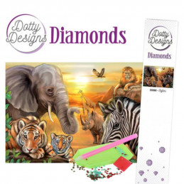 Dotty Designs Broderie Diamand - Safari