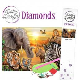 Dotty Designs Broderie Diamand - Safari