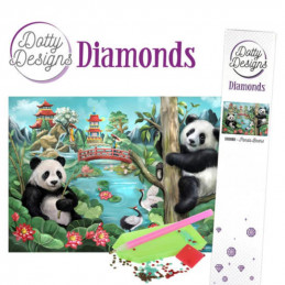 Dotty Designs Broderie Diamand - Panda et ours
