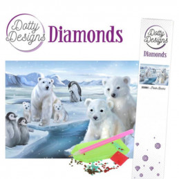 Dotty Designs Broderie Diamant - Ours polaires