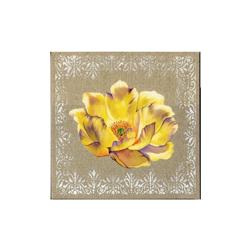Image pour tableau 3D 30x30 cm Fleur jaune GK3030018