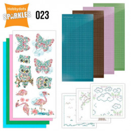 Kit Sparkles Set 23 - Floral pink