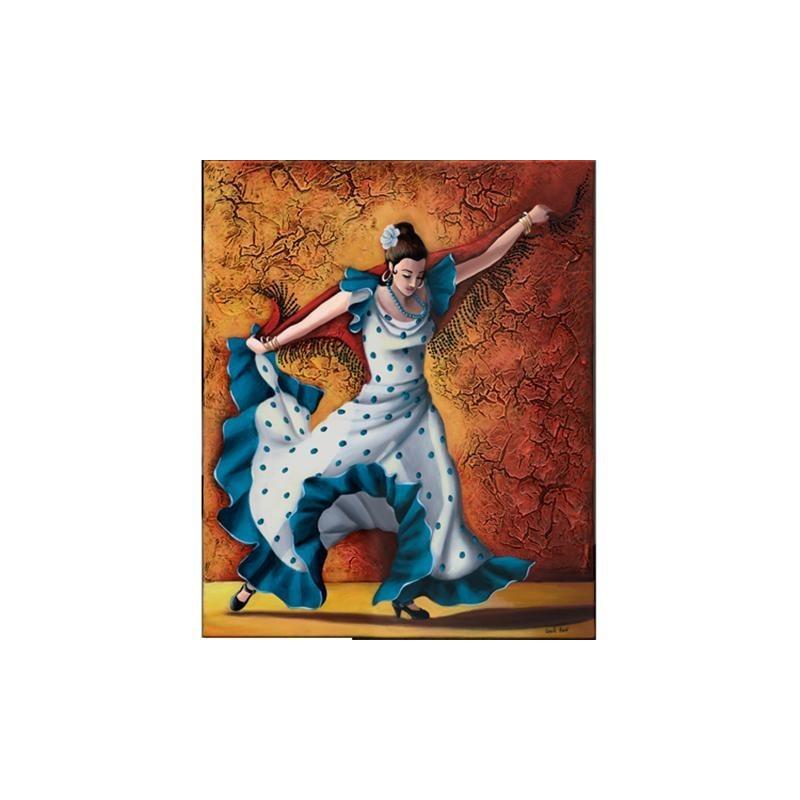 Image pour tableaux 3D - GK2430029 - 24x30 - DANSEUSE FLAMENCO