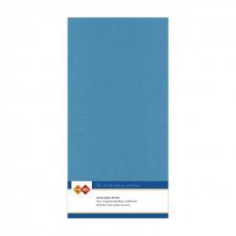 Carte 13.5 x 27 cm uni Turquoise paquet de 10