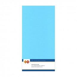 Carte 13.5 x 27 cm uni Bleu ciel paquet de 10
