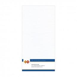 Carte 13.5 x 27 cm uni Blanc paquet de 10