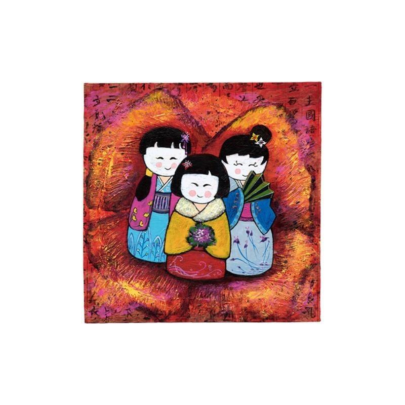 Image pour tableaux 3D - GK3030021 - 30x30 - 3 POUPEES CHINOISES - Aux Bleuets Loisirs créatifs à Reims