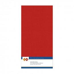 Carte 13.5 x 27 cm uni Rouge Noël paquet de 10