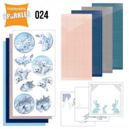 Kit Sparkles Set 24 - Lapins loups et phoques en hiver