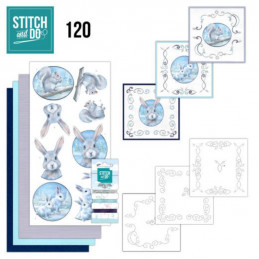 Stitch and do 120 - kit Carte 3D broderie - Animaux de l'arctique
