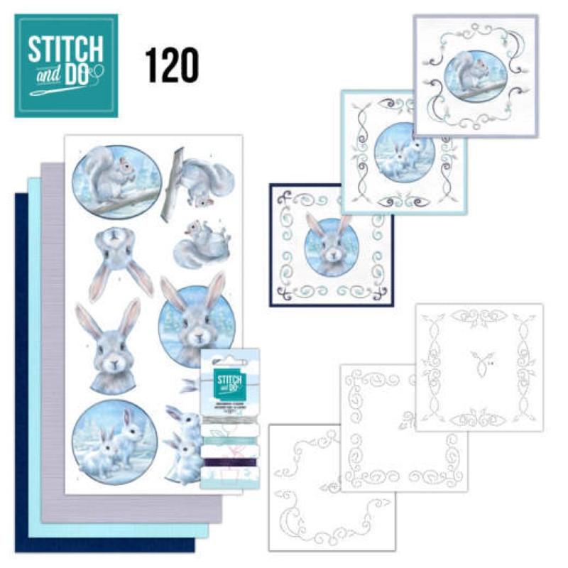Stitch and do 120 - kit Carte 3D broderie - Animaux de l'arctique