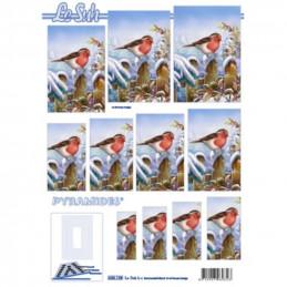 Carte 3D à découper - Pyramide rouge gorge - 630138
