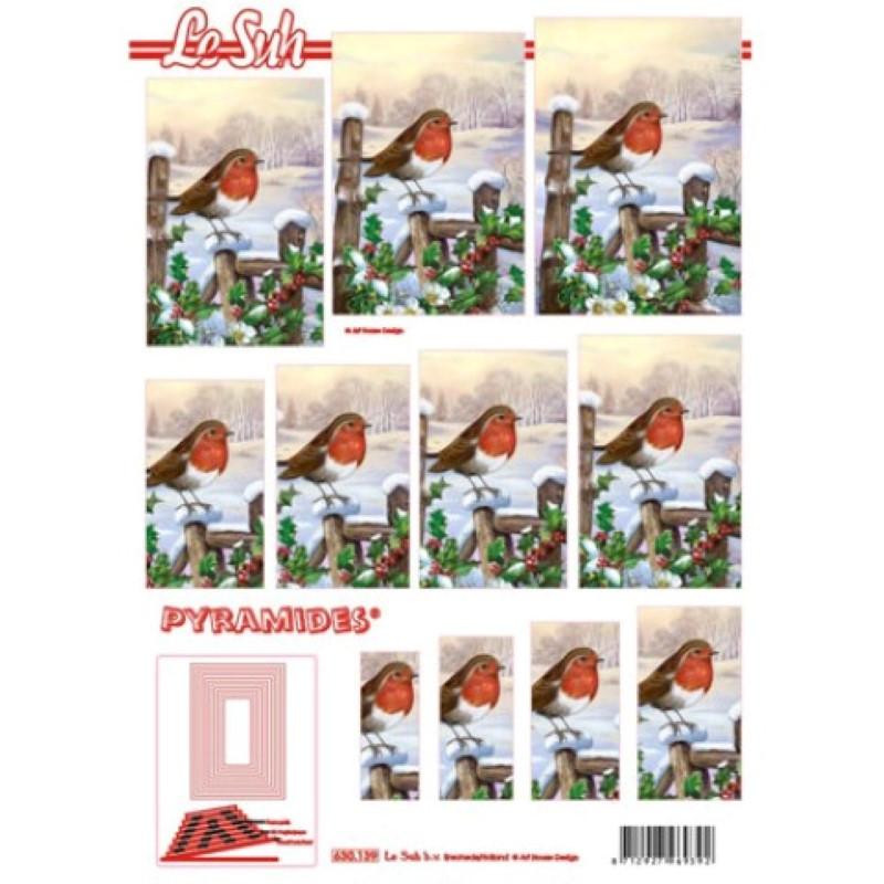 Carte 3D à découper - Pyramide rouge gorge - 630139