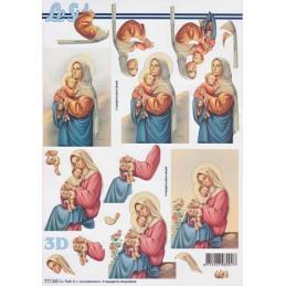 Carte 3D à découper - Sainte vierge - 777343