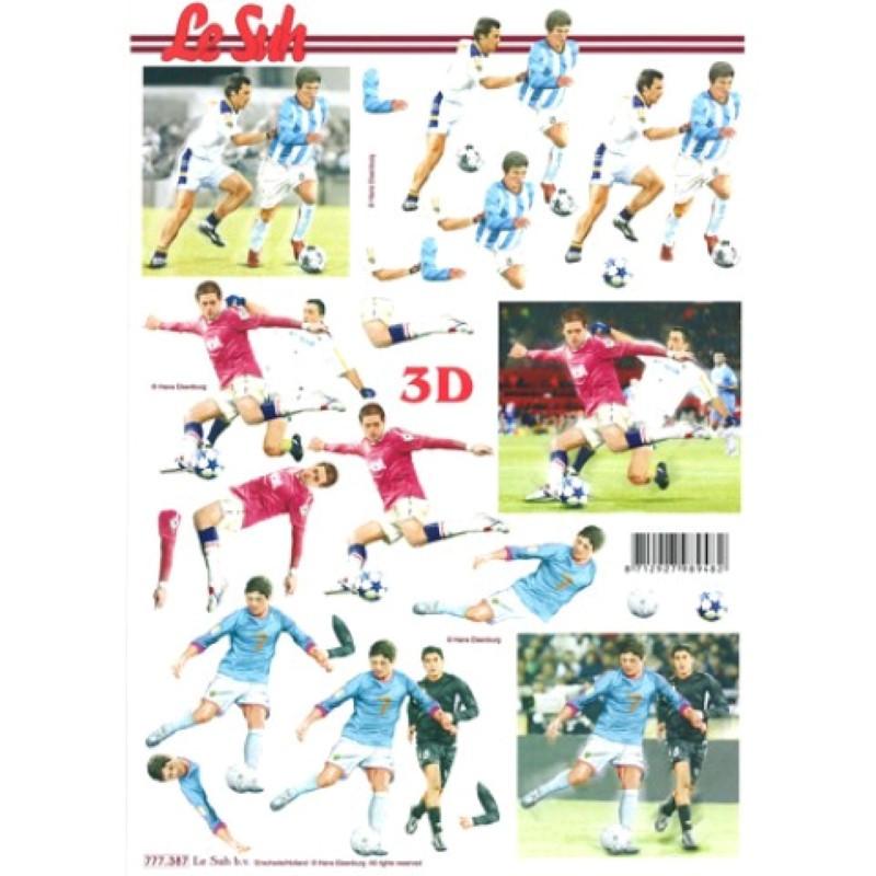 Carte 3D à découper - Joueurs de foot - 777387