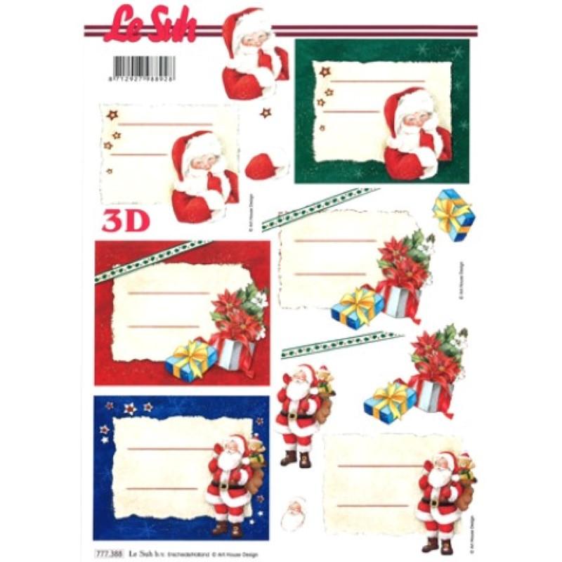 Carte 3D à découper - Etiquettes pour Noël - 777388