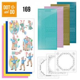 Dot and do 169 - kit Carte 3D  - C'est la fête