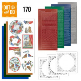 Dot and do 170 - kit Carte 3D  - Scènes d'hiver