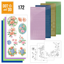 Dot and do 172 - kit Carte 3D  - Fleurs de printemps
