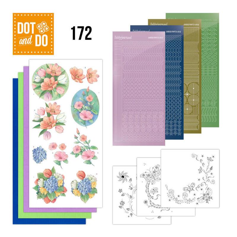 Dot and do 172 - kit Carte 3D  - Fleurs de printemps