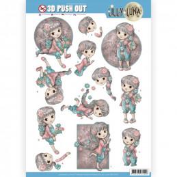 Carte 3D prédéc. - SB10420 - Lily luna - Aime les fleurs