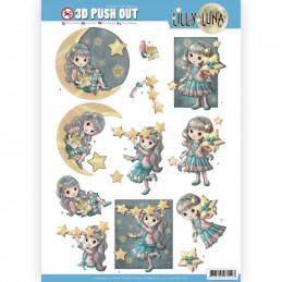 Carte 3D prédéc. - SB10421 - Lily luna - Briller comme une étoile