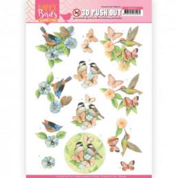Carte 3D prédéc. - SB10417 -  Happy birds - Amis à plumes