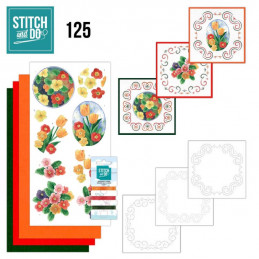 Stitch and do 125 - kit Carte 3D broderie - Fleurs de printemps