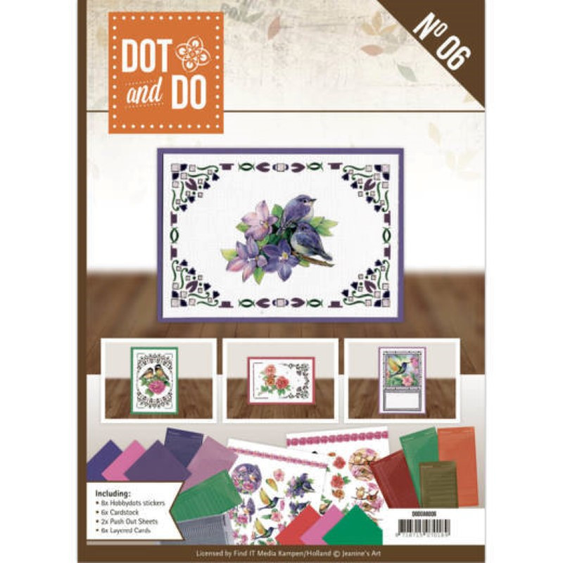 Dot and do Livre n°6 - Kit Carte 3D - Les oiseaux