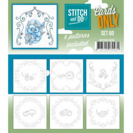 Cartes seules Stitch and do  - Set n°60